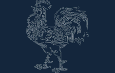 Rooster Free DXF File