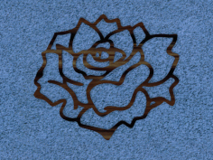Rose Wall Accent Free DXF File
