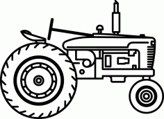Tractor Free DXF File