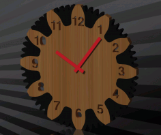 Wall Clock Free DXF File