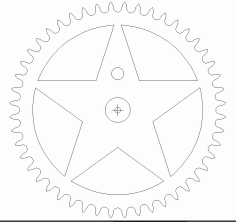 White Star Free DXF File