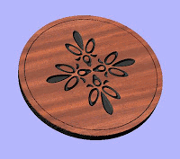 Wooden Ornament Design Free DXF File