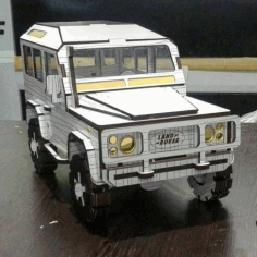 Land Rover Defender Laser Cut 3d Model Kit Free DXF File