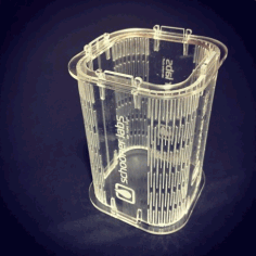 Laser Cut Acrylic Pen Stand 3mm Free DXF File