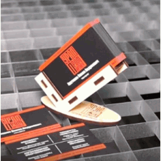 Laser Cut Business Card Holder Stand Free DXF File