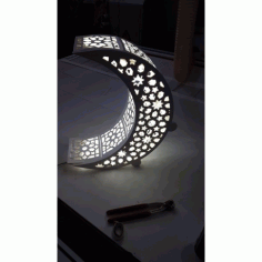 Laser Cut Crescent Moon Night Light Lamp Free DXF File