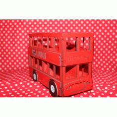 Laser Cut London Bus 3mm Free DXF File