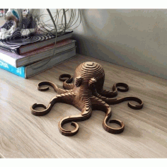 Laser Cut Octopus Layered Wooden Free DXF File