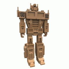 Laser Cut Optimus Prime 3mm Free DXF File