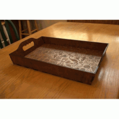 Laser Cut Plywood Serving Tray Free DXF File