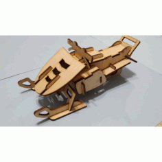 Laser Cut Plywood Snowmobile Free DXF File