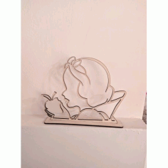 Laser Cut Snow White With Apple Free DXF File