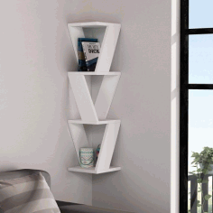 Laser Cut Stylish Wall Shelf Free DXF File