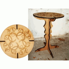 Laser Cut Table With Engraving Free DXF File
