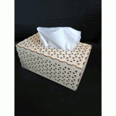 Laser Cut Tissue Box Template Free DXF File