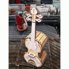 Laser Cut Violin Free DXF File