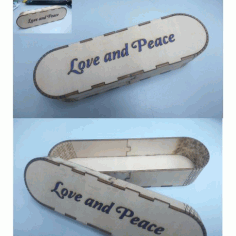 Laser Cut Wooden Pencil Box Free DXF File
