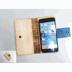 Laser Cut Wooden Phone Case Free DXF File