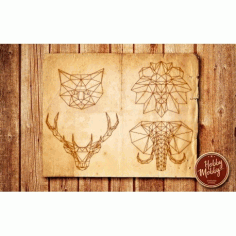 Laser Engraved Animals Free DXF File