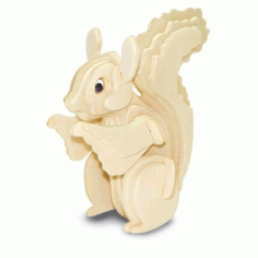 Squirrel 3d Puzzle Free DXF File