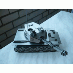 Tank 3d Puzzle Free DXF File