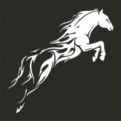 Tribal Horse Unique Free DXF File