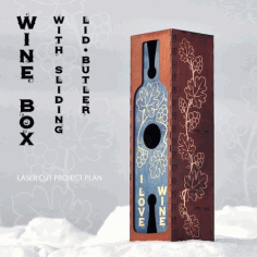 Wine Box Sliding Lid Butler Plan Free DXF File