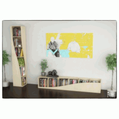 Twisted Book Shelf Home Decor Free DXF File