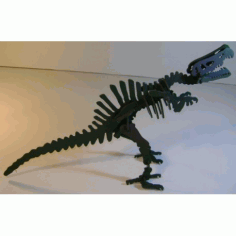 Spinosaurus Dinosaur 3d Puzzle Free DXF File
