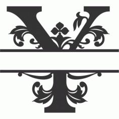 Regal Split Font Y Free DXF File