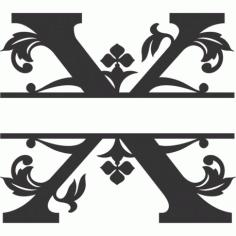 Regal Split Font X Free DXF File