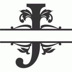 Regal Split Font J Free DXF File