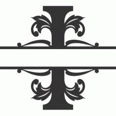 Regal Split Font I Free DXF File