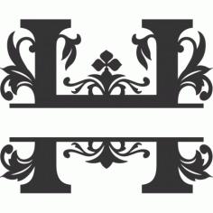 Regal Split Font H Free DXF File