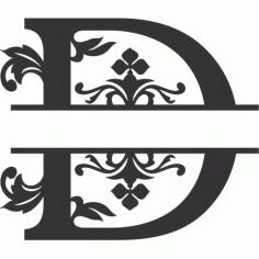 Regal Split Font D Free DXF File