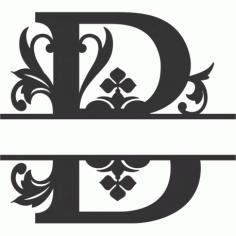 Regal Split Font B Free DXF File
