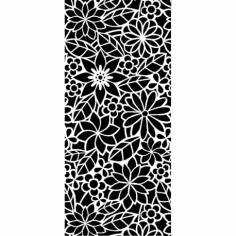 Abstract Floral Pattern Free DXF File