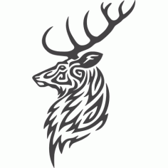 Buck Deer Head Free DXF File