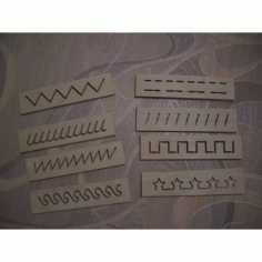 Decorative Laser Cut Stencils Free DXF File