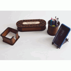 Desk Organizer Set 3 Mm Free DXF File