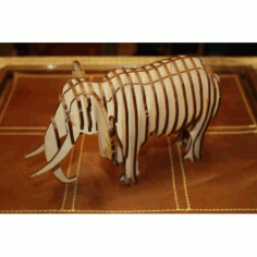 Elephant 3d Puzzle 3mm Free DXF File