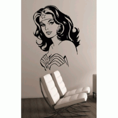 Girl Wall Art Free DXF File