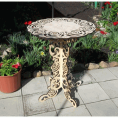 Home Decoration Ornamental Round Table Free DXF File