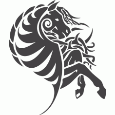 Horse Wall Art Free DXF File