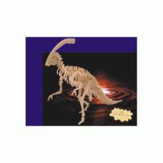 Parasaurolophus 3d Wooden Puzzle Free DXF File