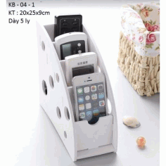 Phone Remote Control Organizer Holder Free DXF File