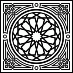 Arabesque Download For Laser Cut Free DXF File