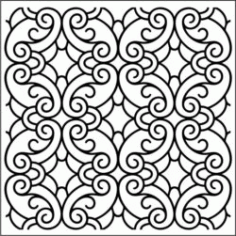 Classic Swirly Pattern Download For Laser Engraving Machines Free DXF File