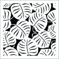 Decorative Leaves Square Download For Laser Cut Free DXF File
