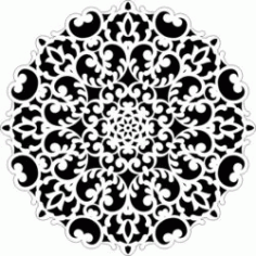 Decorative Motifs Circle k64 Download For Laser Cut Free DXF File